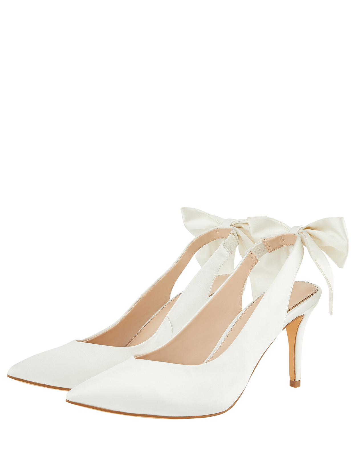 Monsoon BEA BOW POINTED SLING BACK BRIDAL SHOES