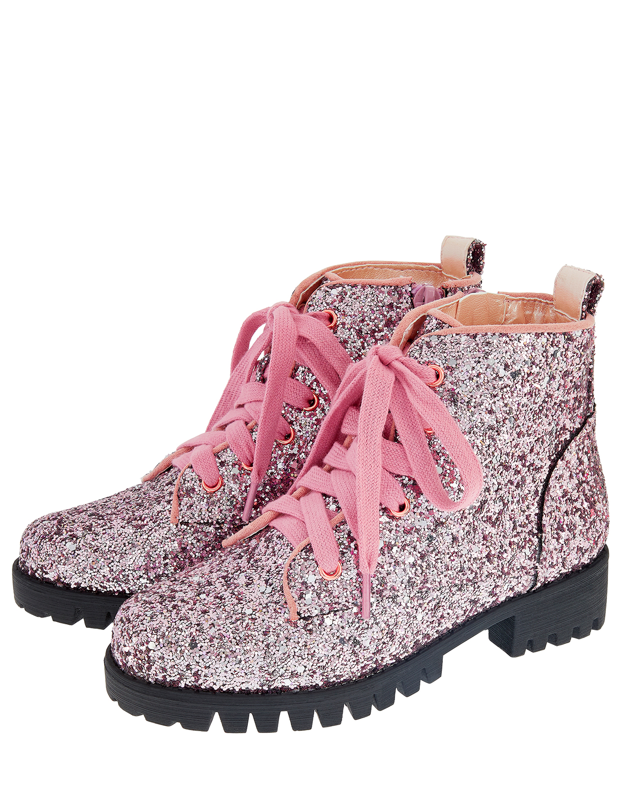 Monsoon Aaliyah Glitter Lace Up Ankle Boots