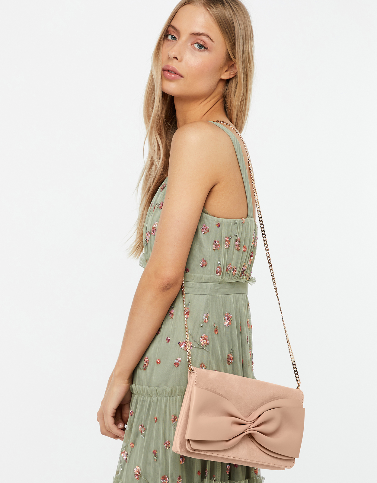 Monsoon Sorrel Soft Bow Clutch Bag