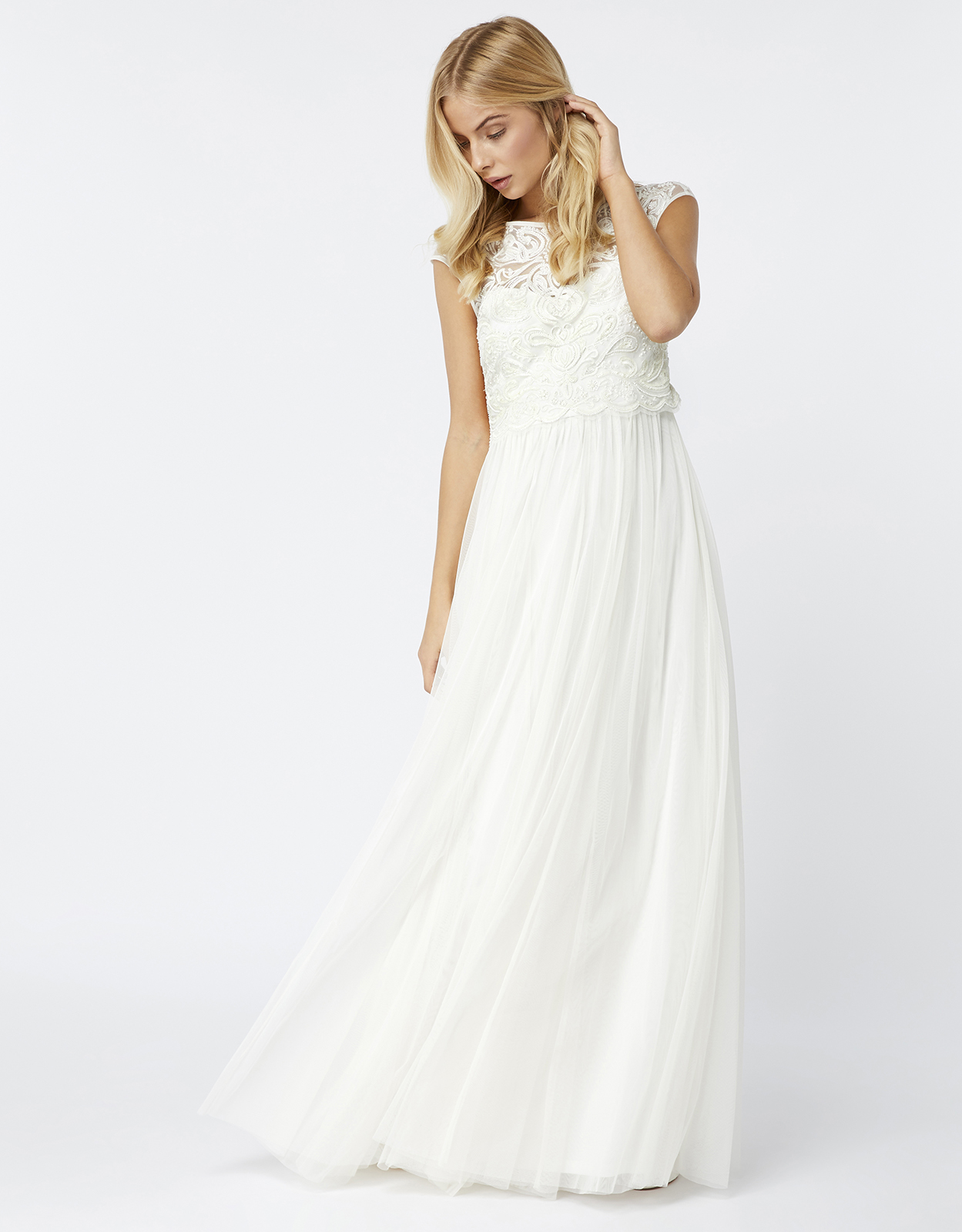 Monsoon Rosalind Embellished Bridal Maxi Dress