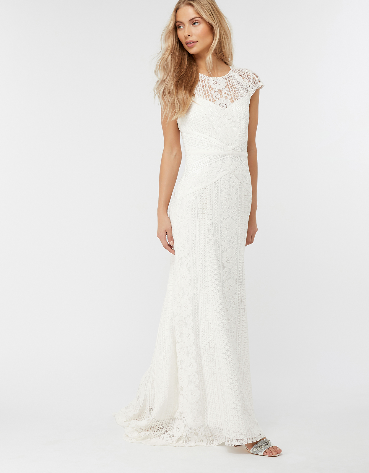 Monsoon Meghan Geo Lace Maxi Wedding Dress