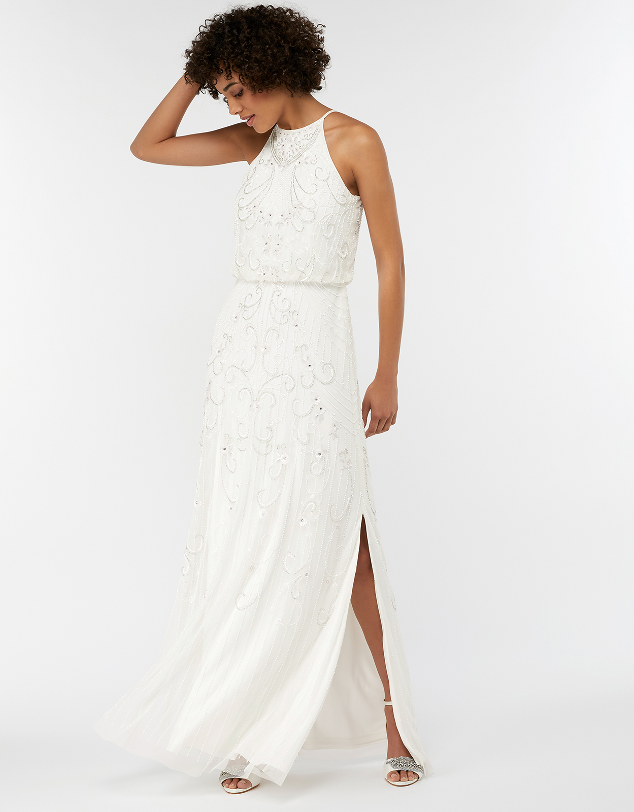 Monsoon Augusta Embellished Maxi Wedding Dress