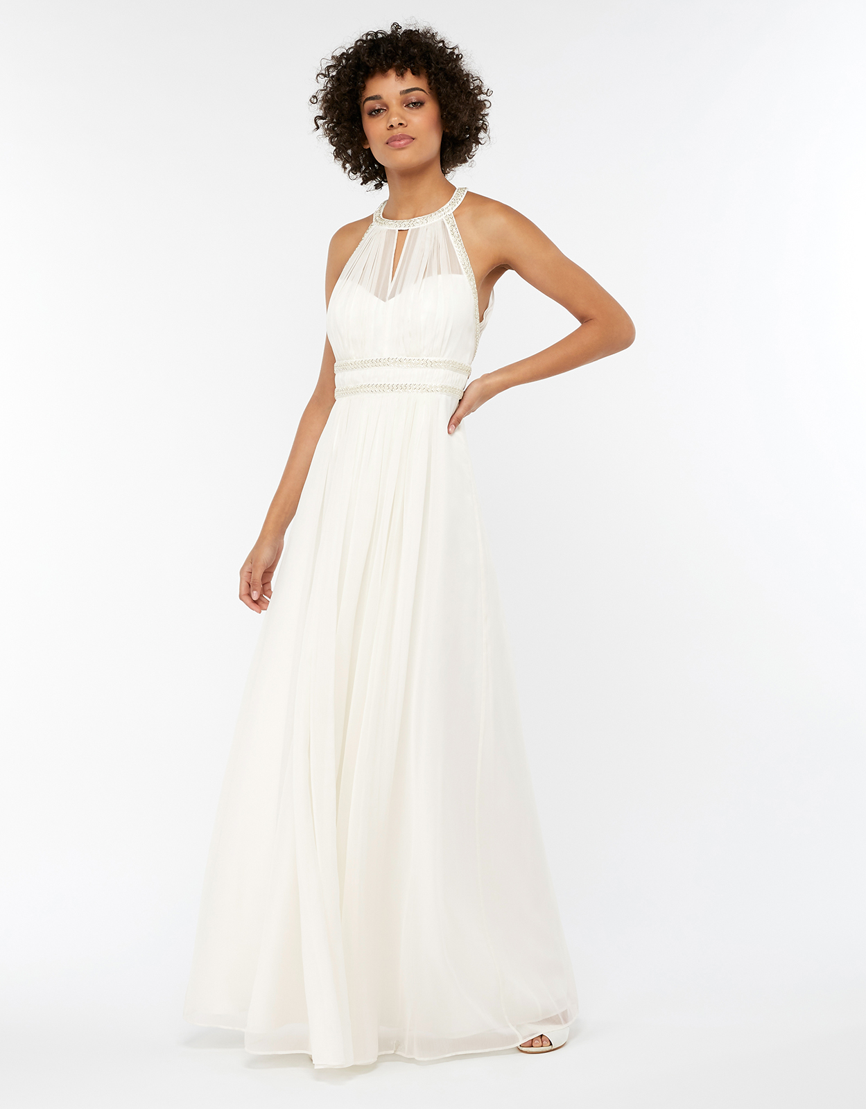 Monsoon Eleanor Embellished Grecian Wedding Dress