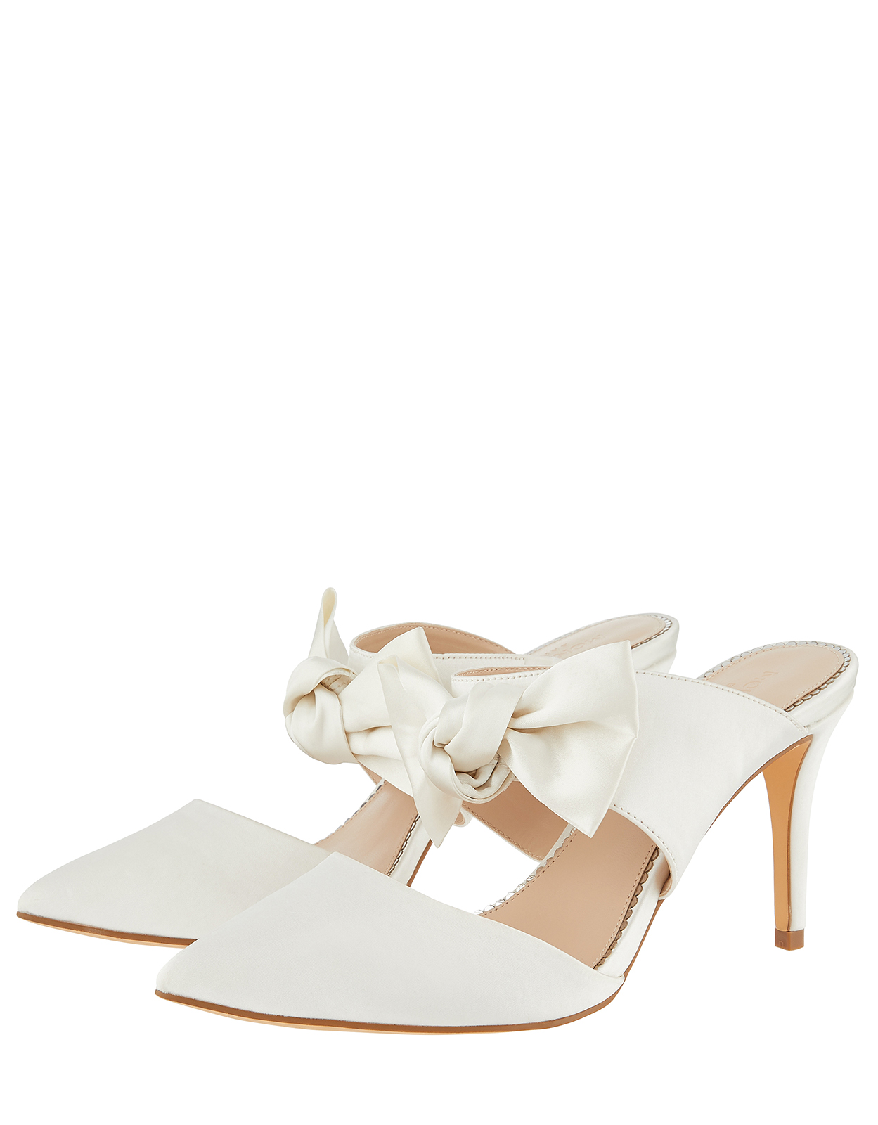 Monsoon Briella Bow Two Band Bridal Mules