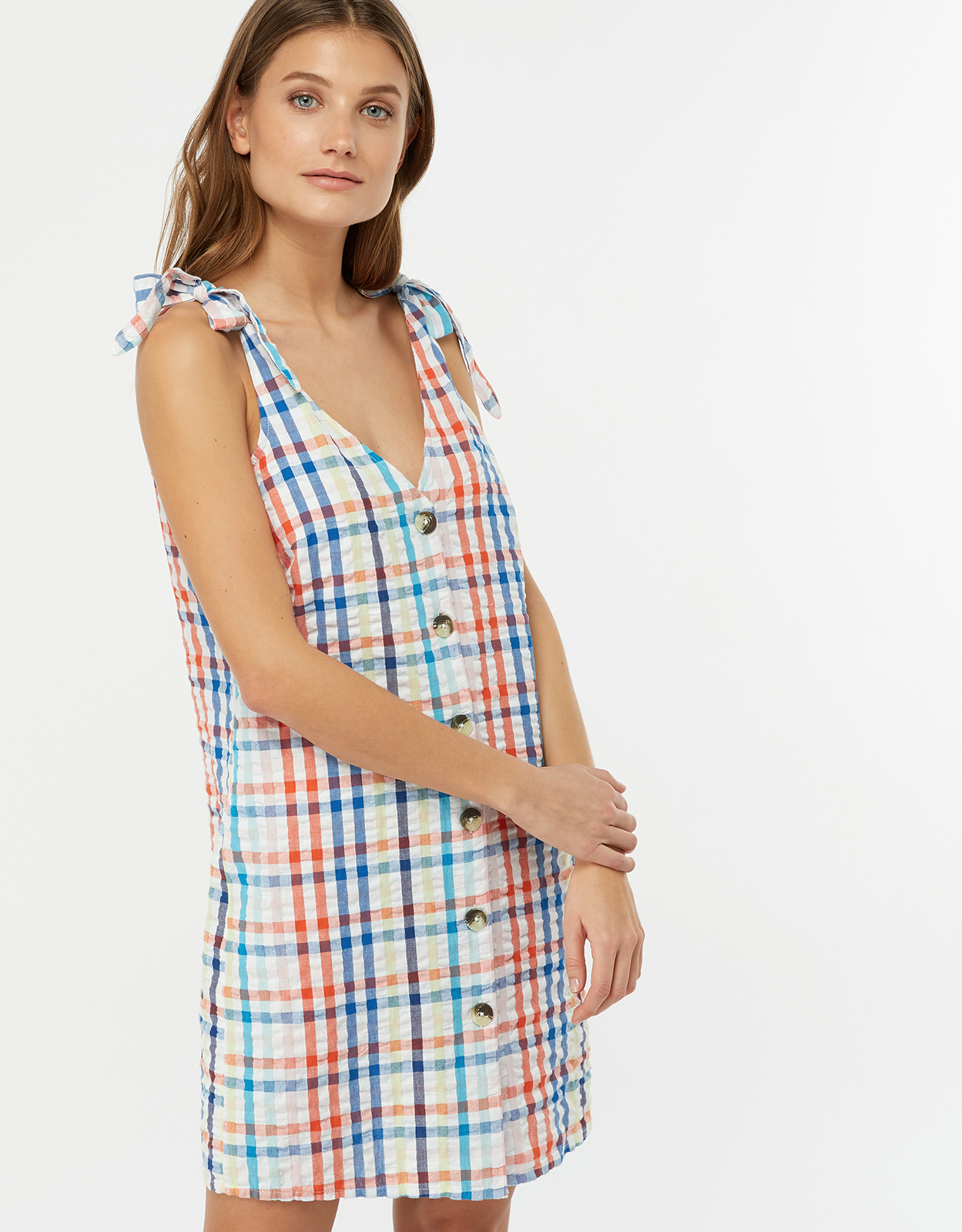 Monsoon Sofia Gingham Dress