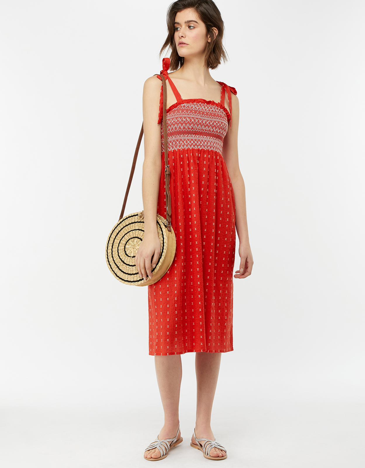 Monsoon Rosa Bandeau Midi Dress