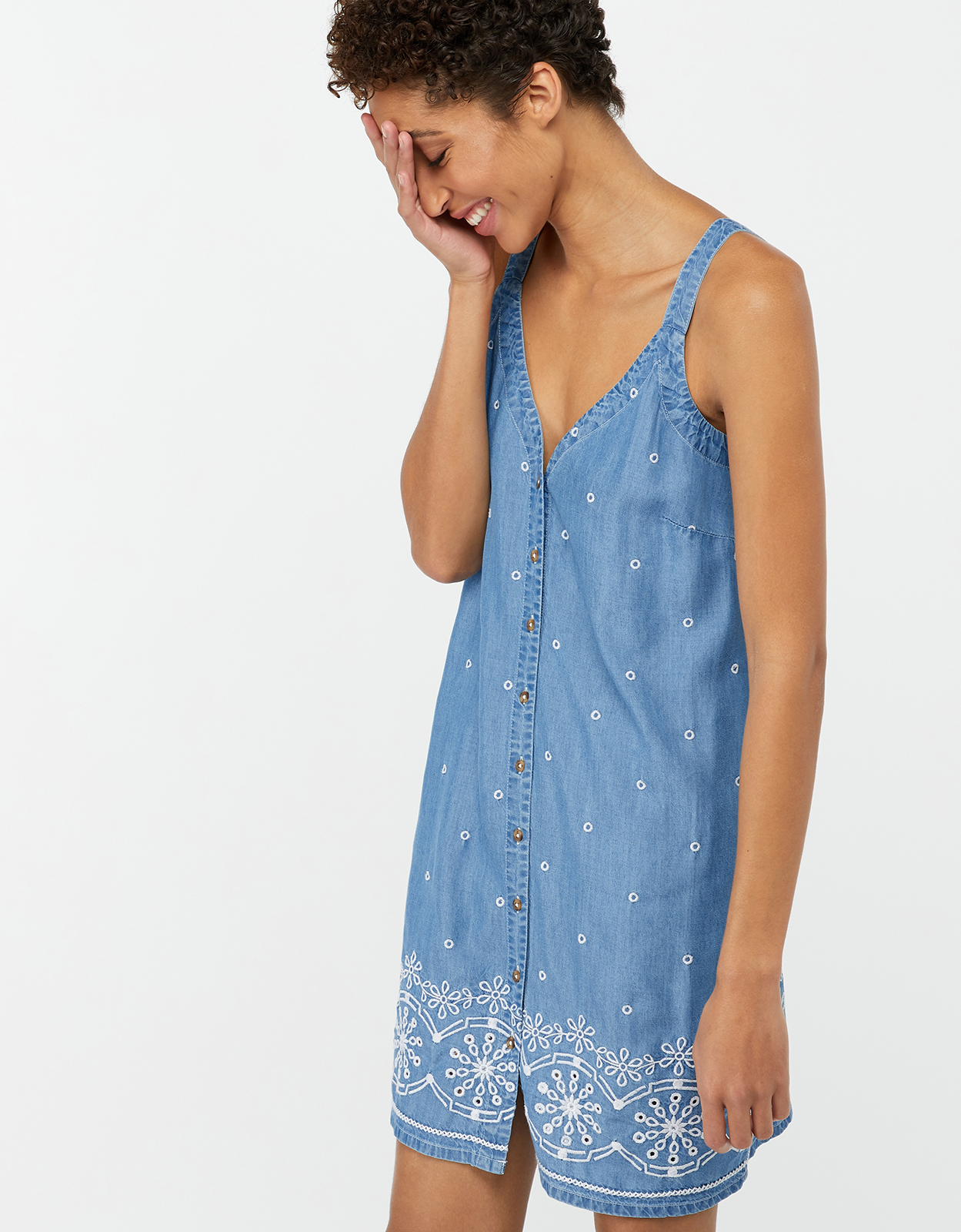 Monsoon Audrey Embroidered Dress