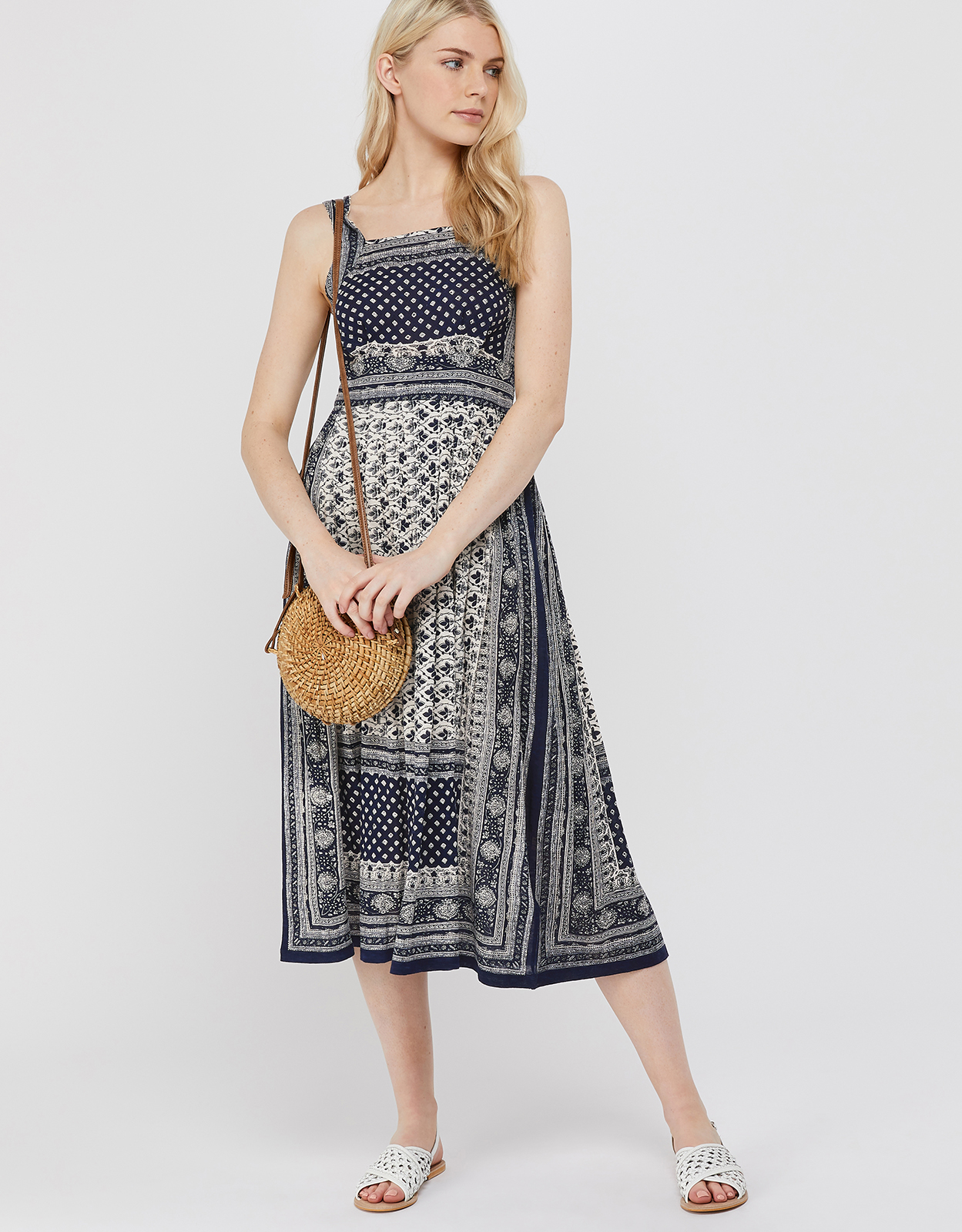 Monsoon Adriana Cotton Jersey Dress