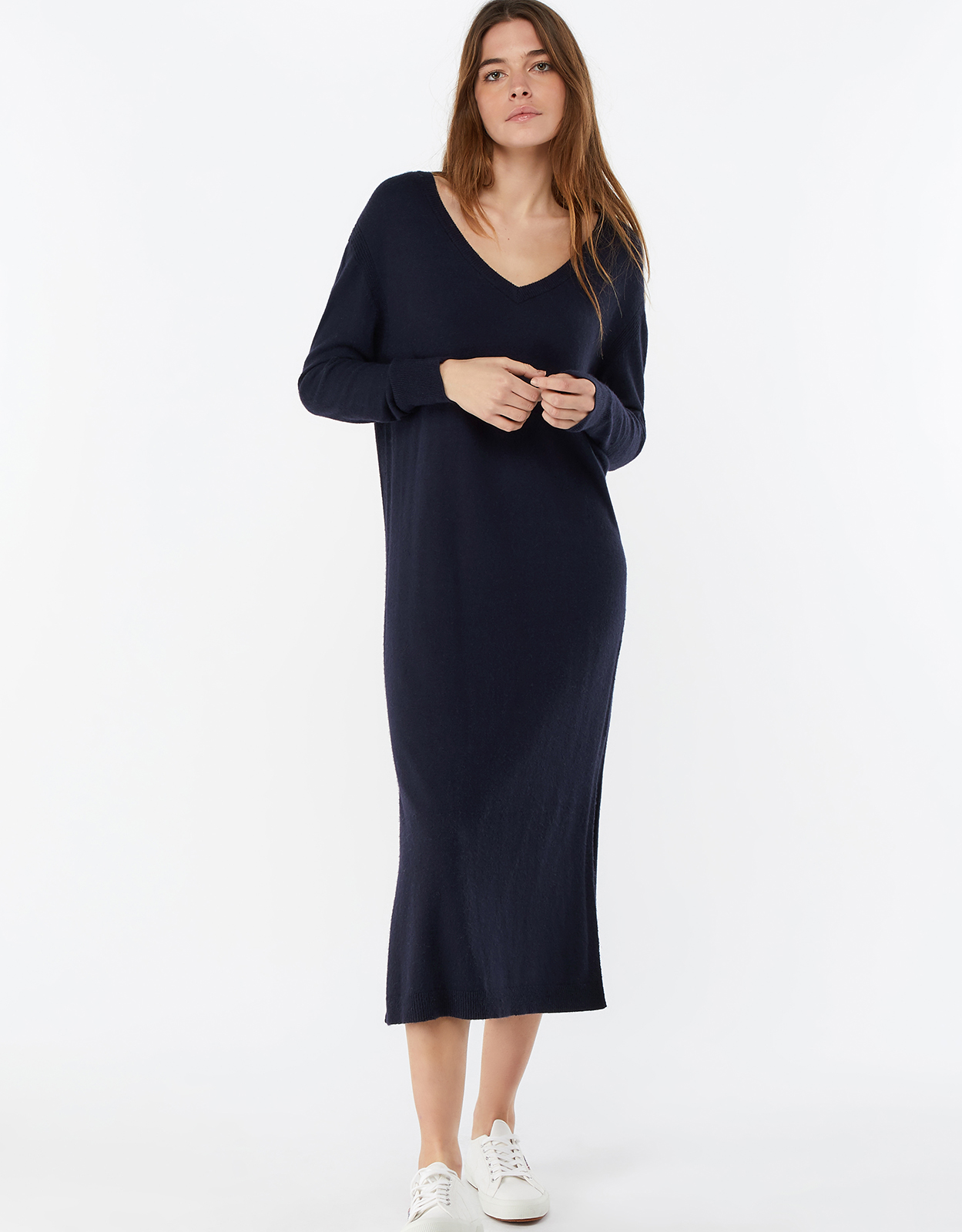 Monsoon Lexi Long Line V Neck Dress