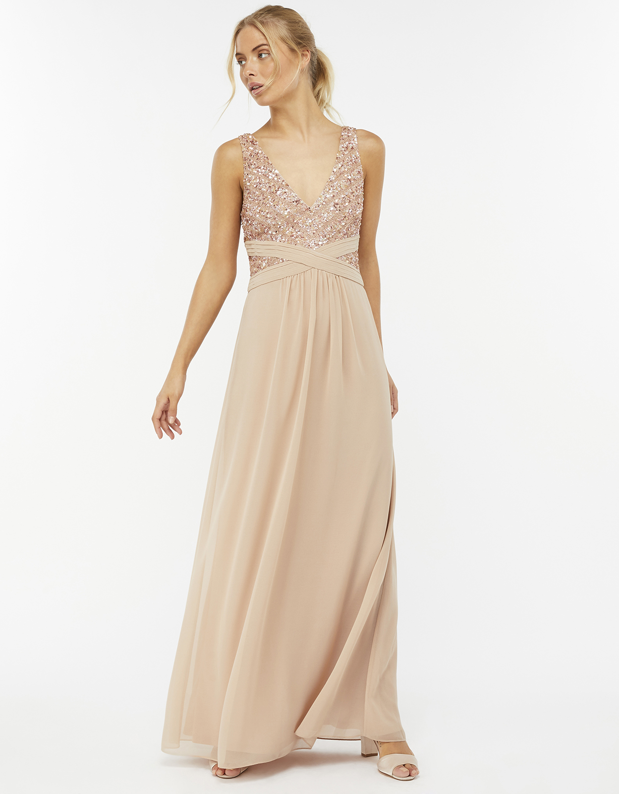 Monsoon Nico Embellished Maxi Dress
