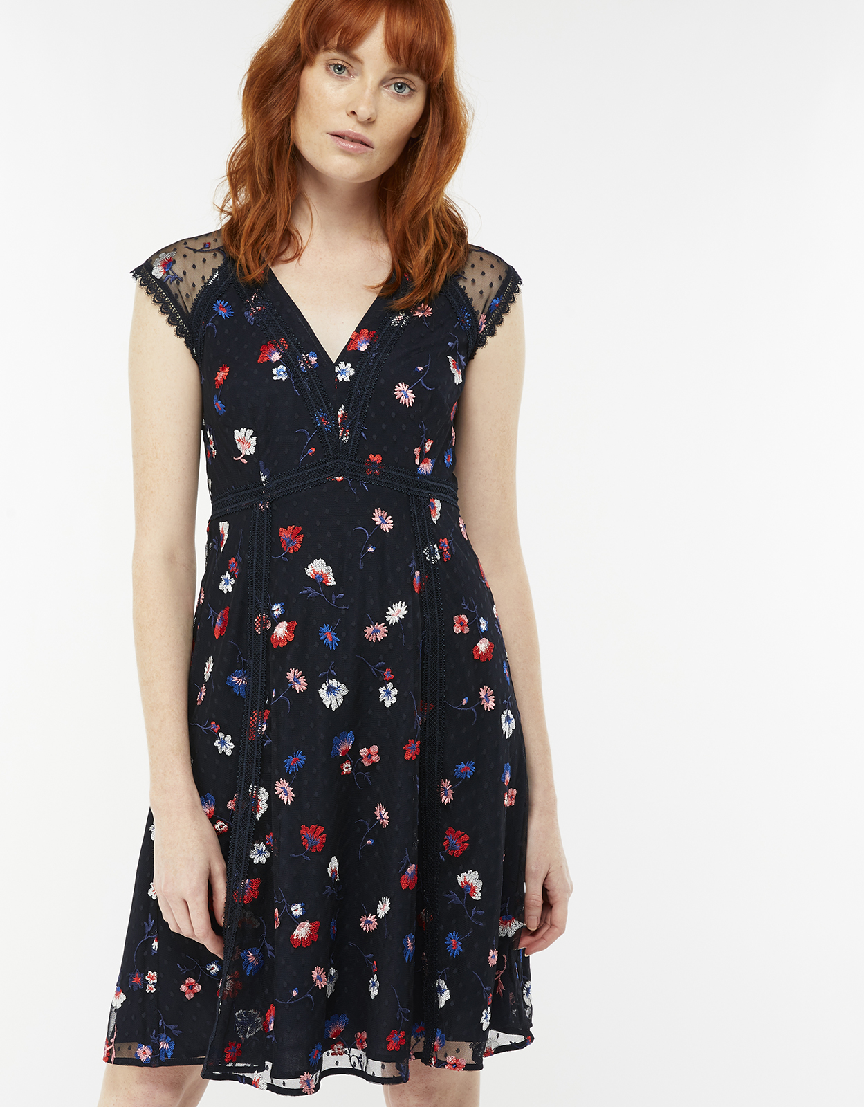 Monsoon Laurie Embroidered Dress