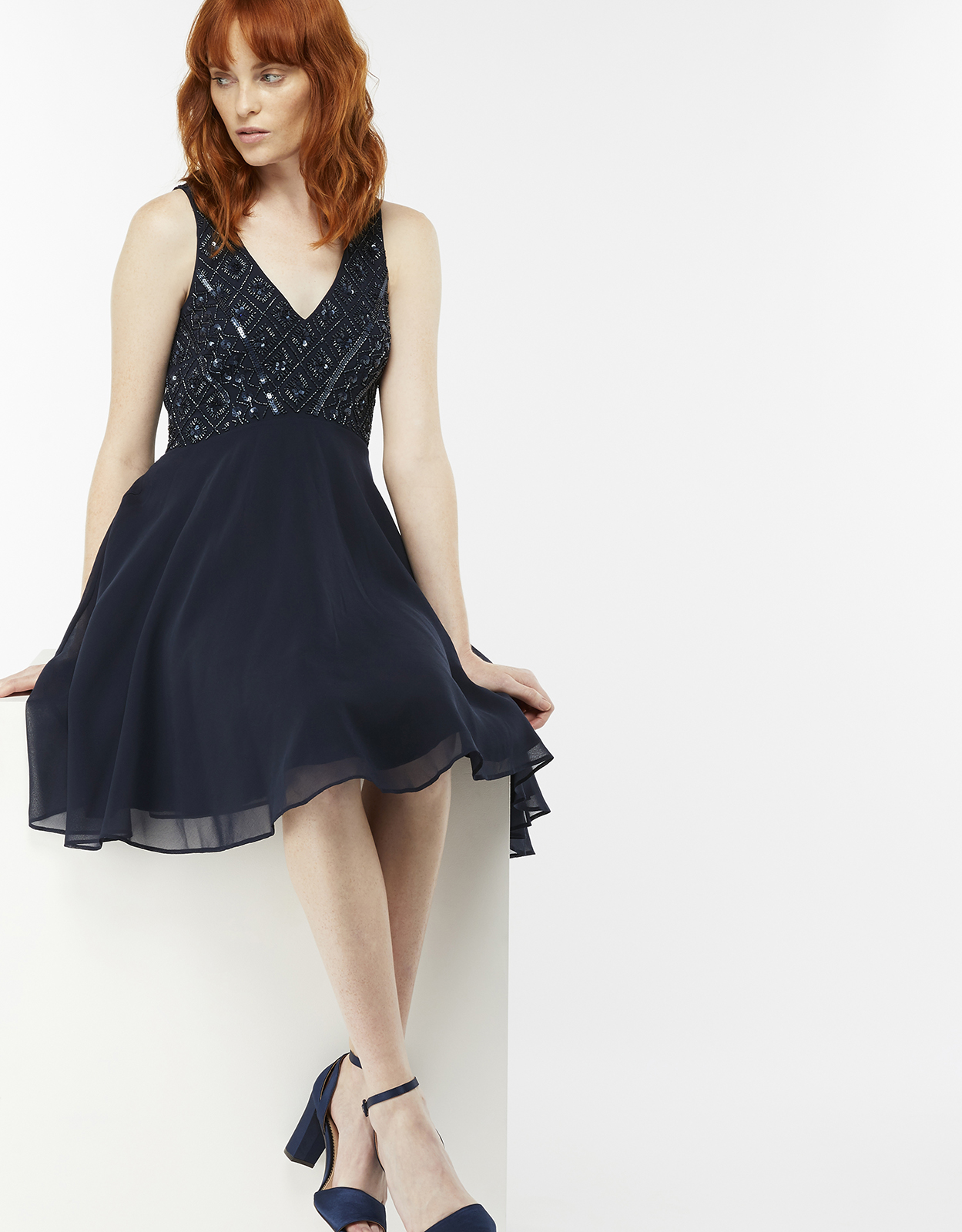 Monsoon Mia Embellished Short Dress