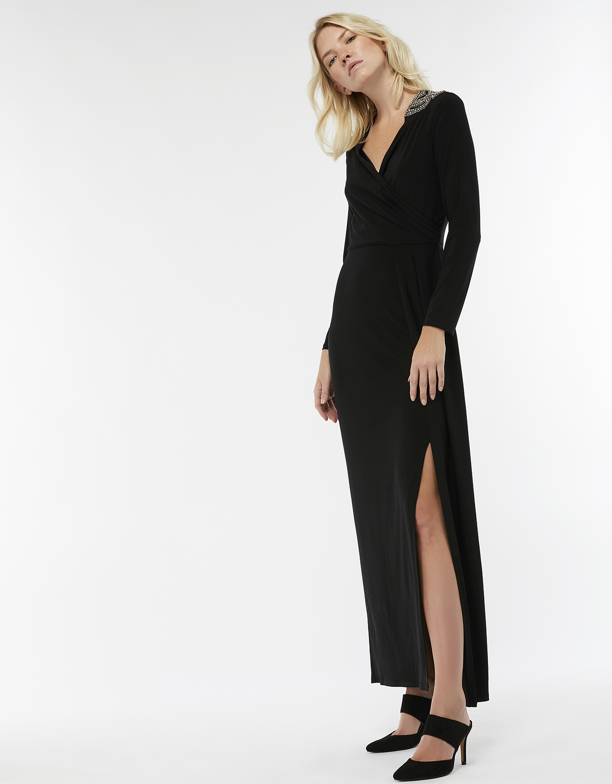 Monsoon Taylor Trim Shoulder Dress