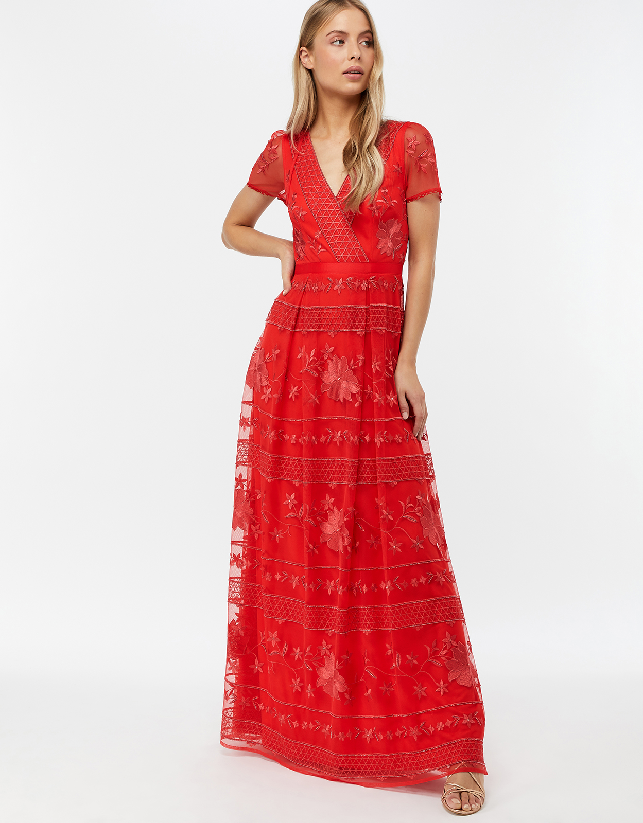 Monsoon Thisbe Embroidered Maxi Dress