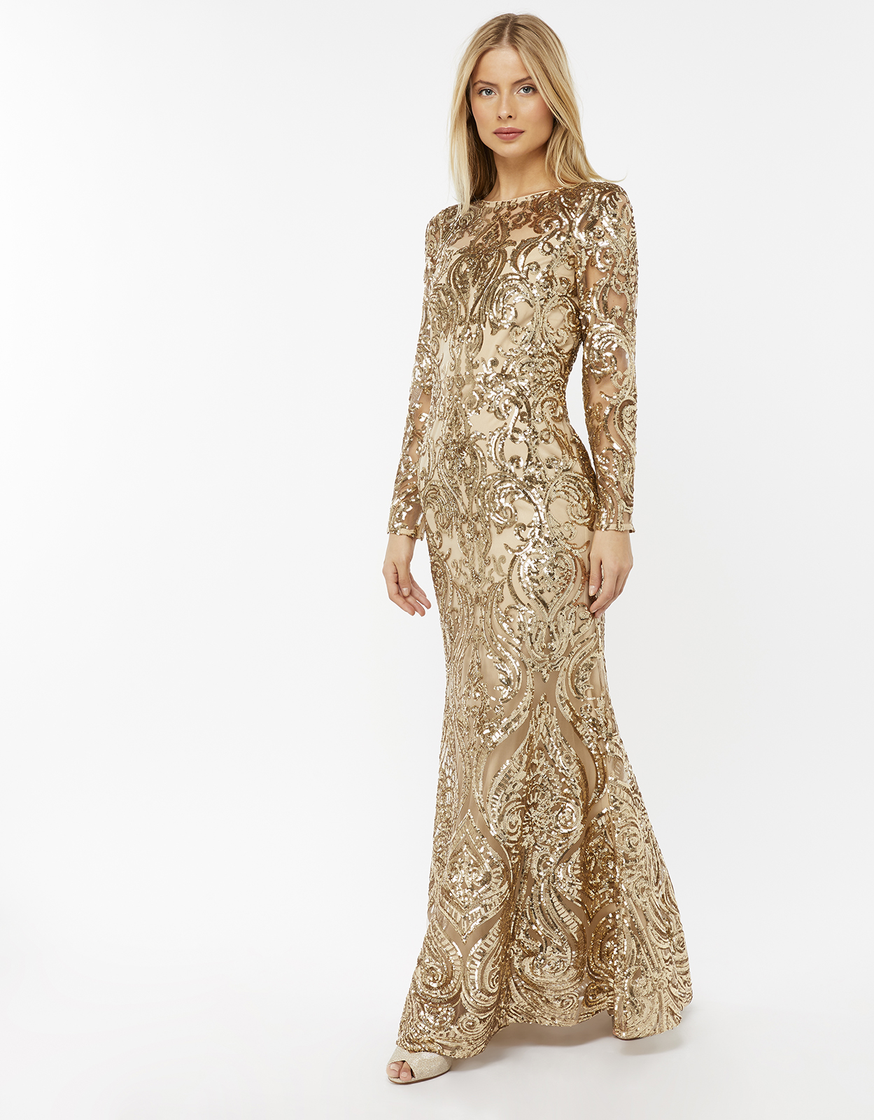 Monsoon Marina Sequin Maxi Dress