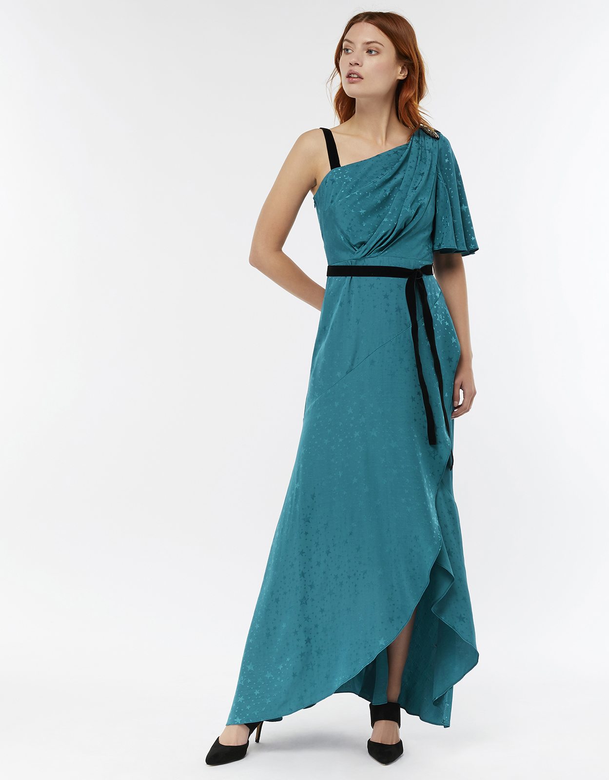 Monsoon Cleo Star Jacquard Maxi Dress