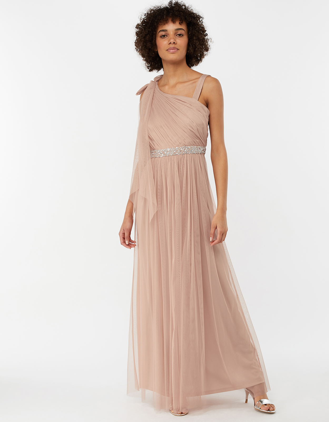 Monsoon Anouck One Shoulder Maxi Bridesmaid Dress