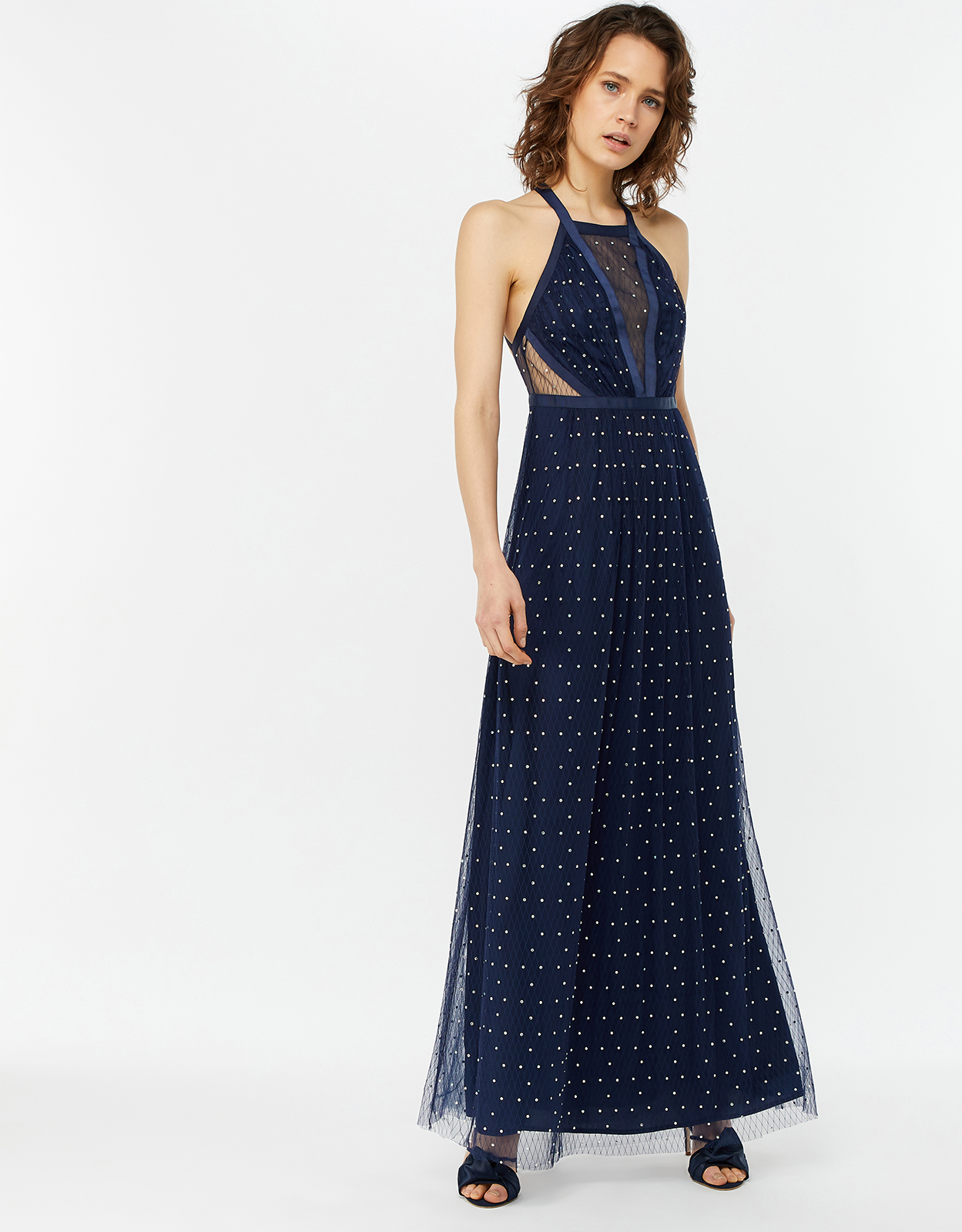 Monsoon Georgia Heat Seal Maxi Dress