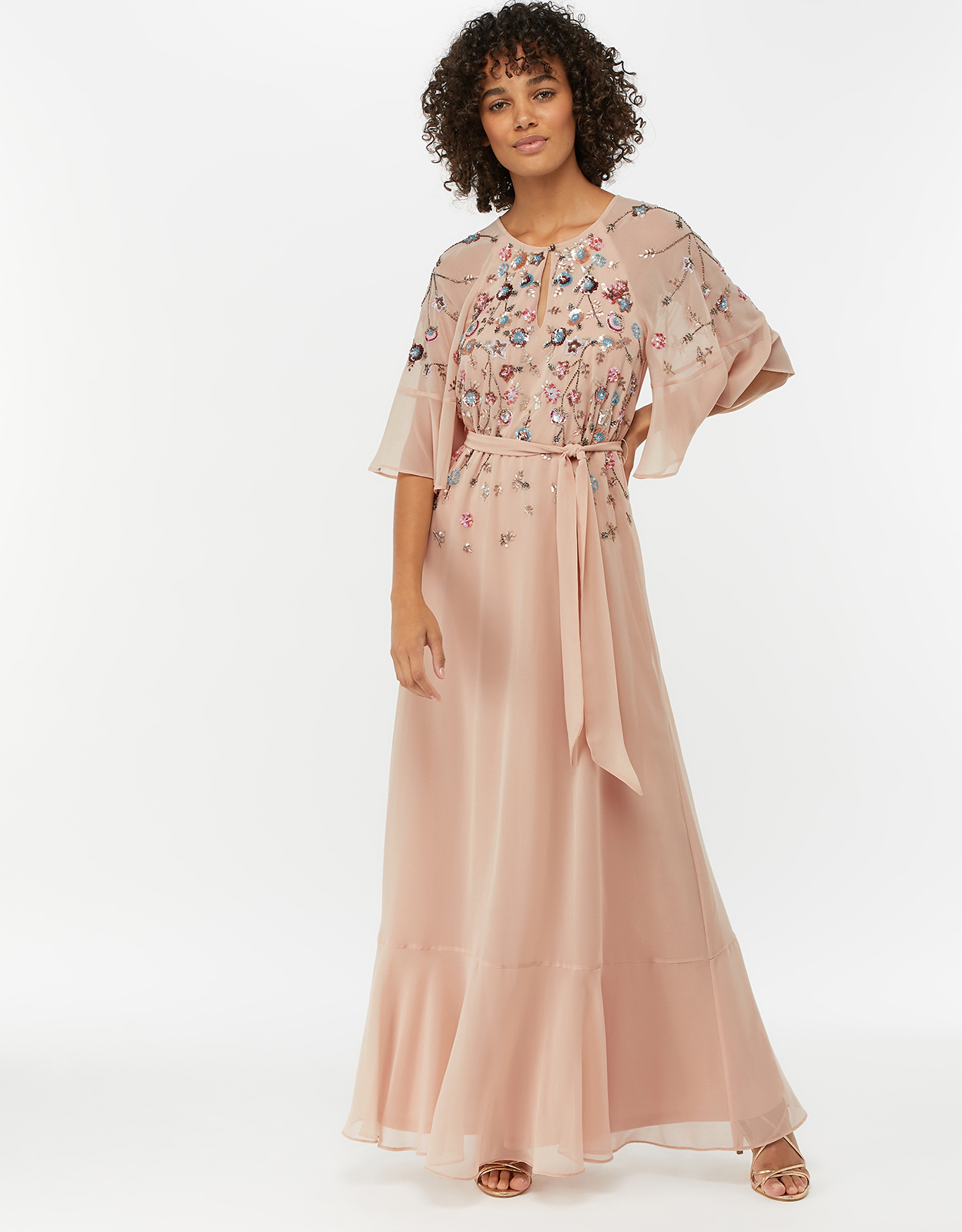 Monsoon Augustina Embellished Kaftan dress