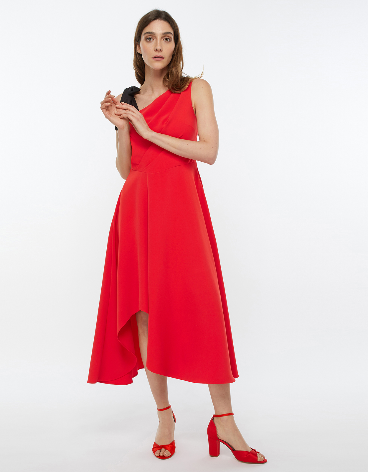 Monsoon Peri One Shoulder Midi Dress