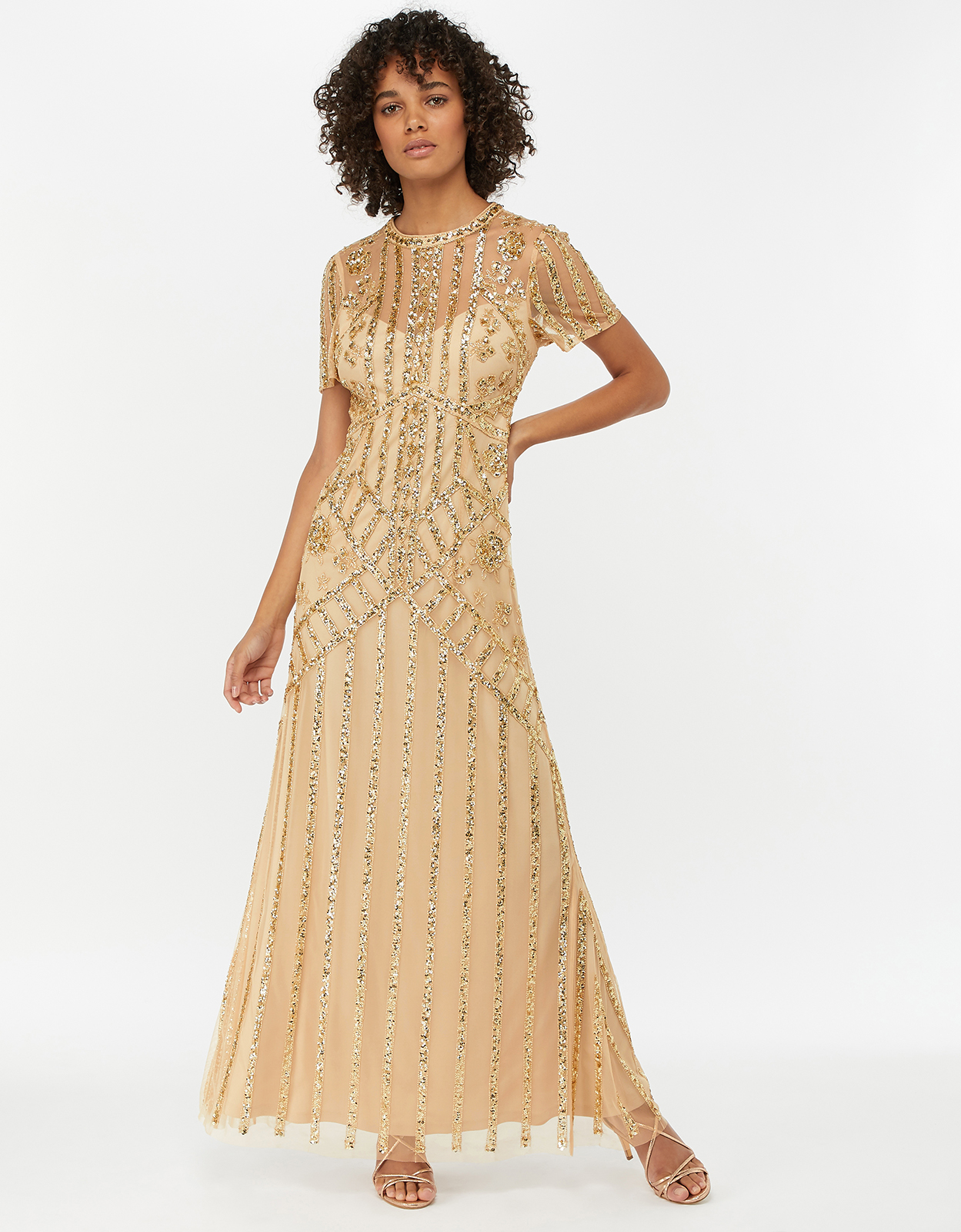 Monsoon Janet Embellished Maxi Dress
