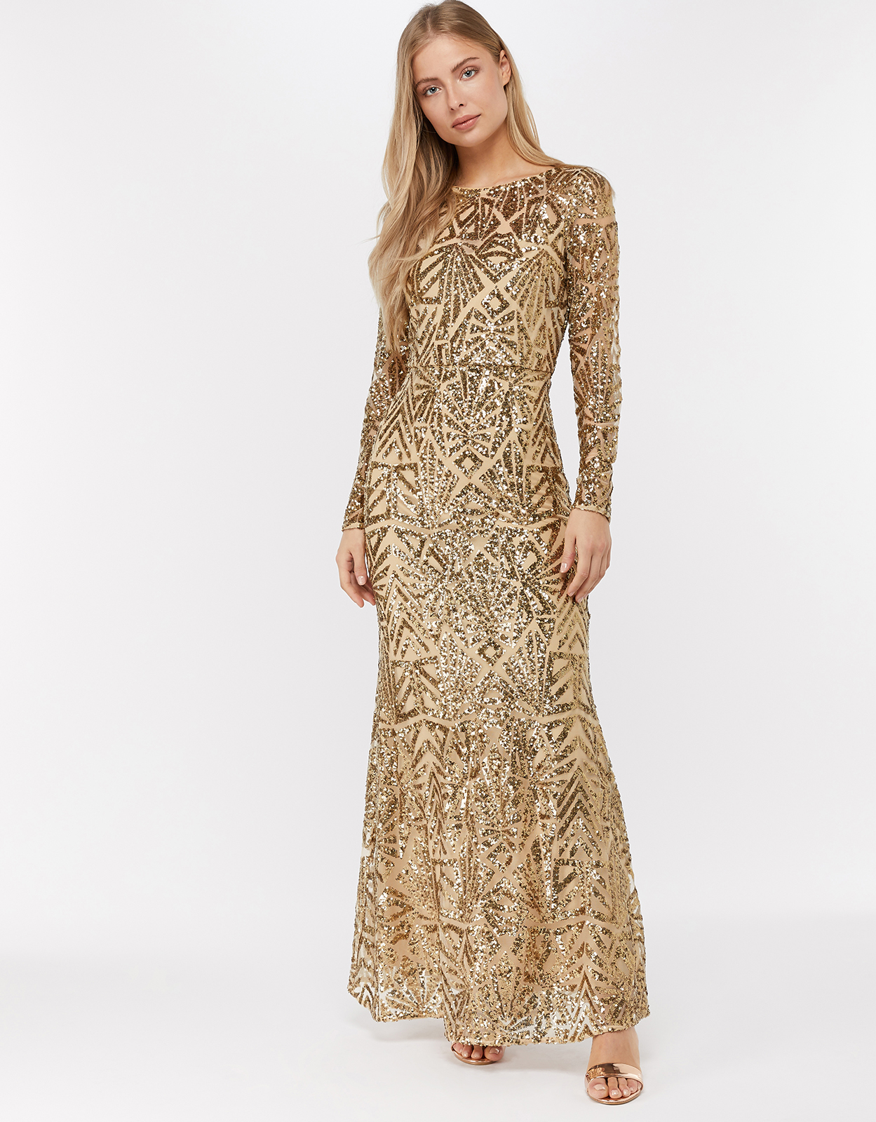 Monsoon Carlita Sequin Maxi Dress