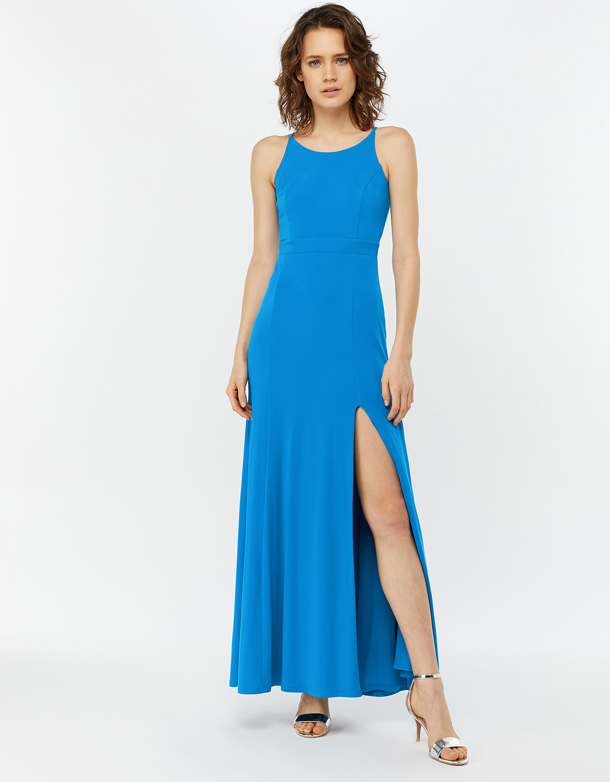 Monsoon Ellie Jersey Racer Maxi Dress
