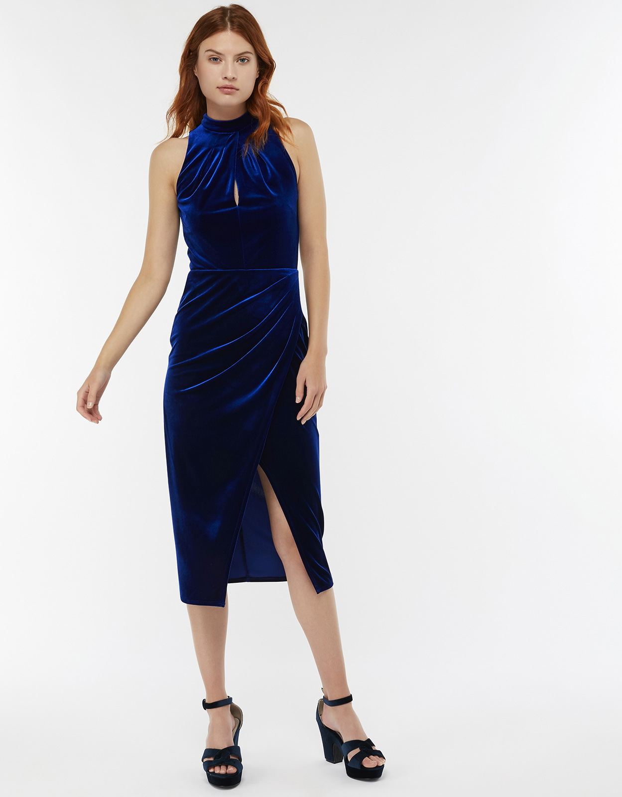 Monsoon Roxie Velvet Shift Dress