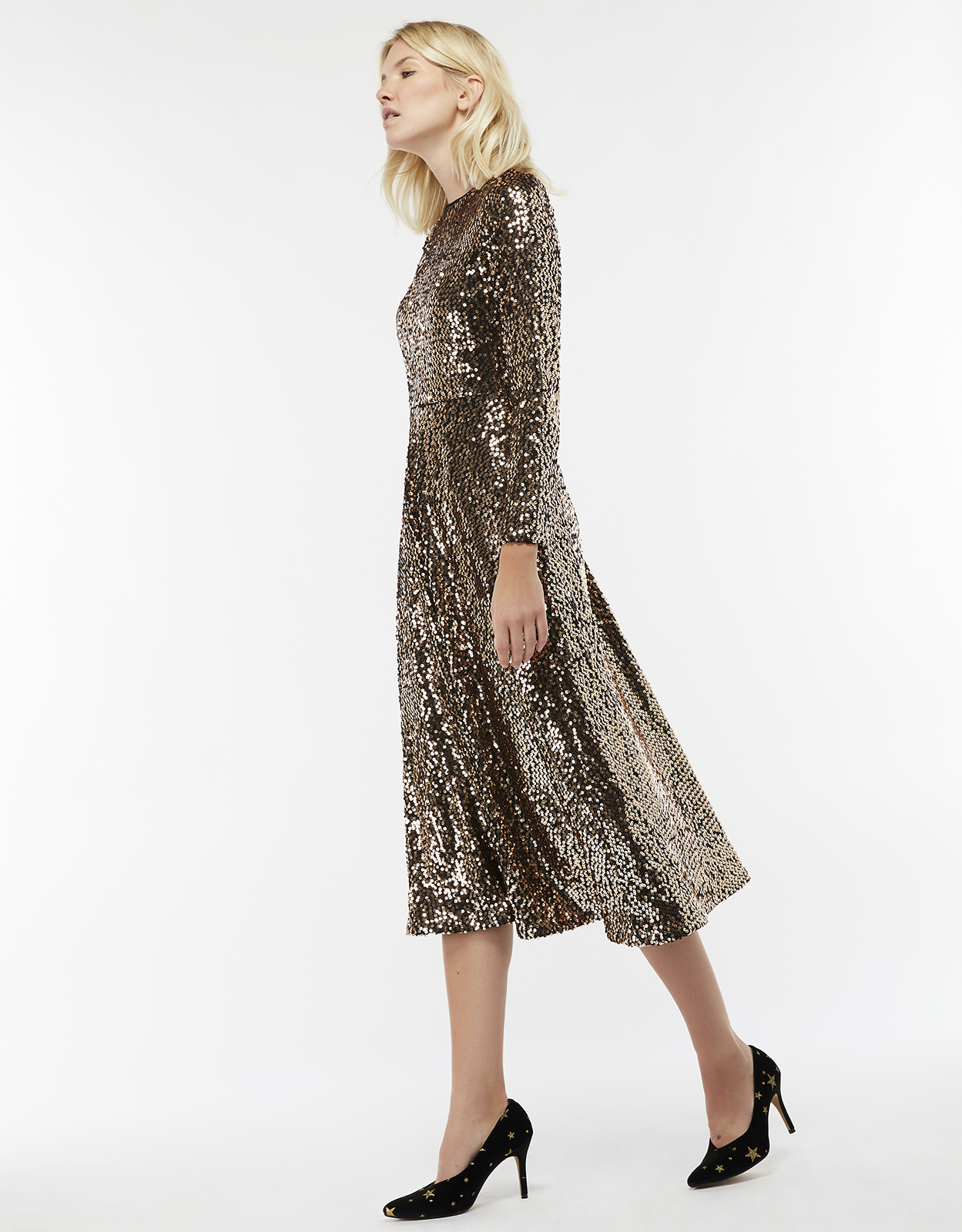 Monsoon Saturn Sequin Midi Dress
