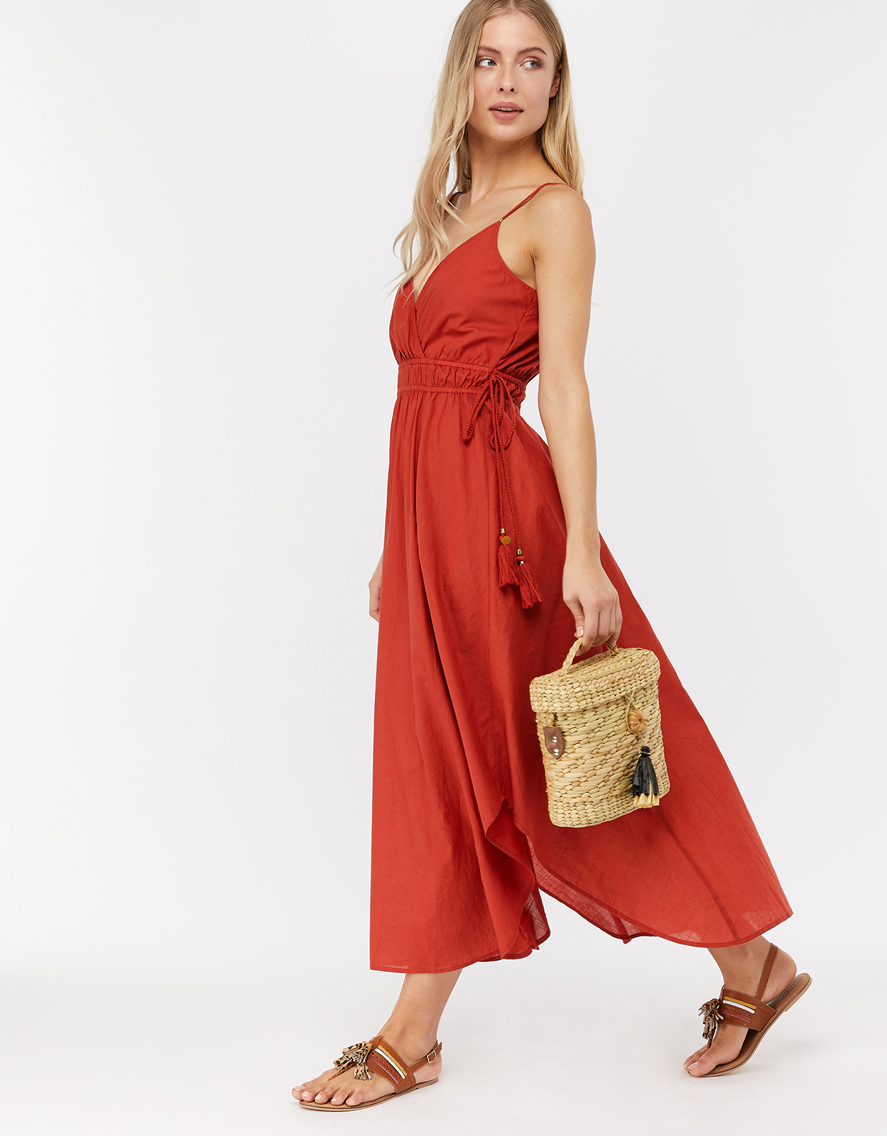 Monsoon Amber Hanky Hem Dress