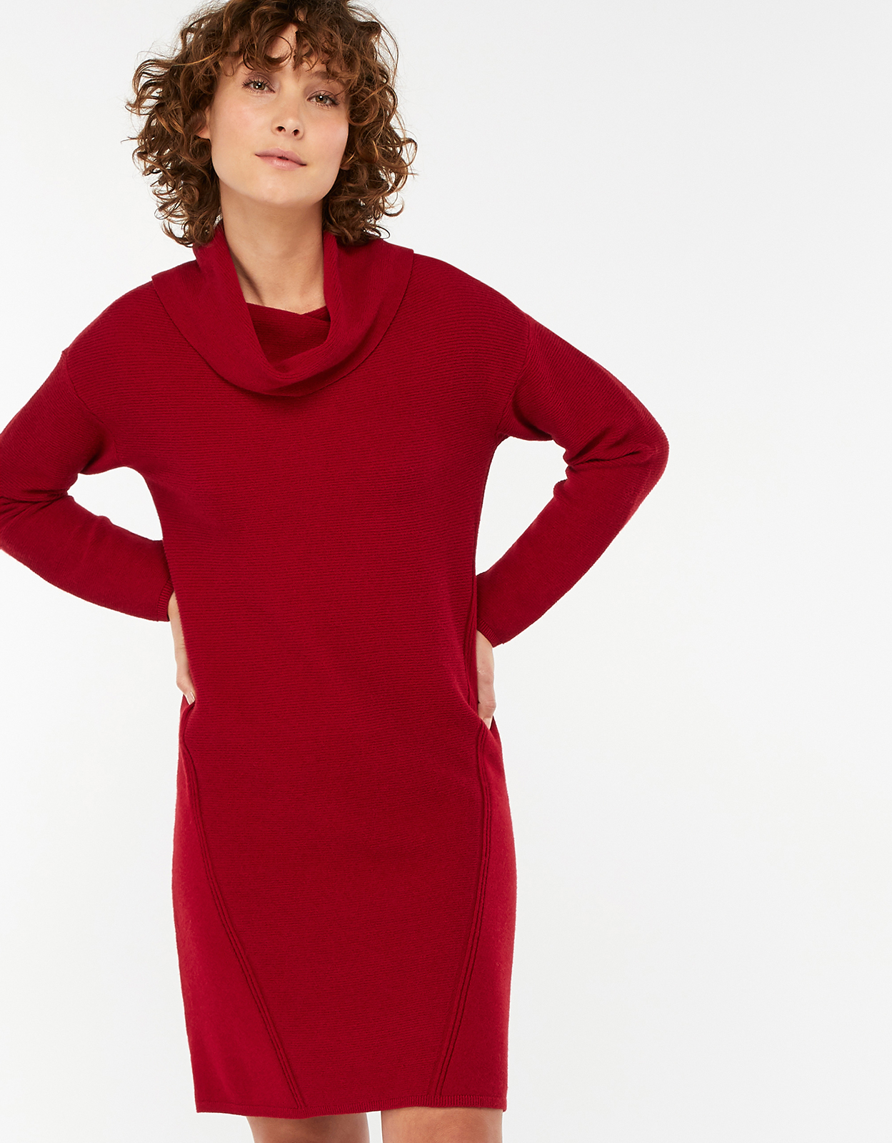 Monsoon Coralie Cowl Neck Jumper Dress
