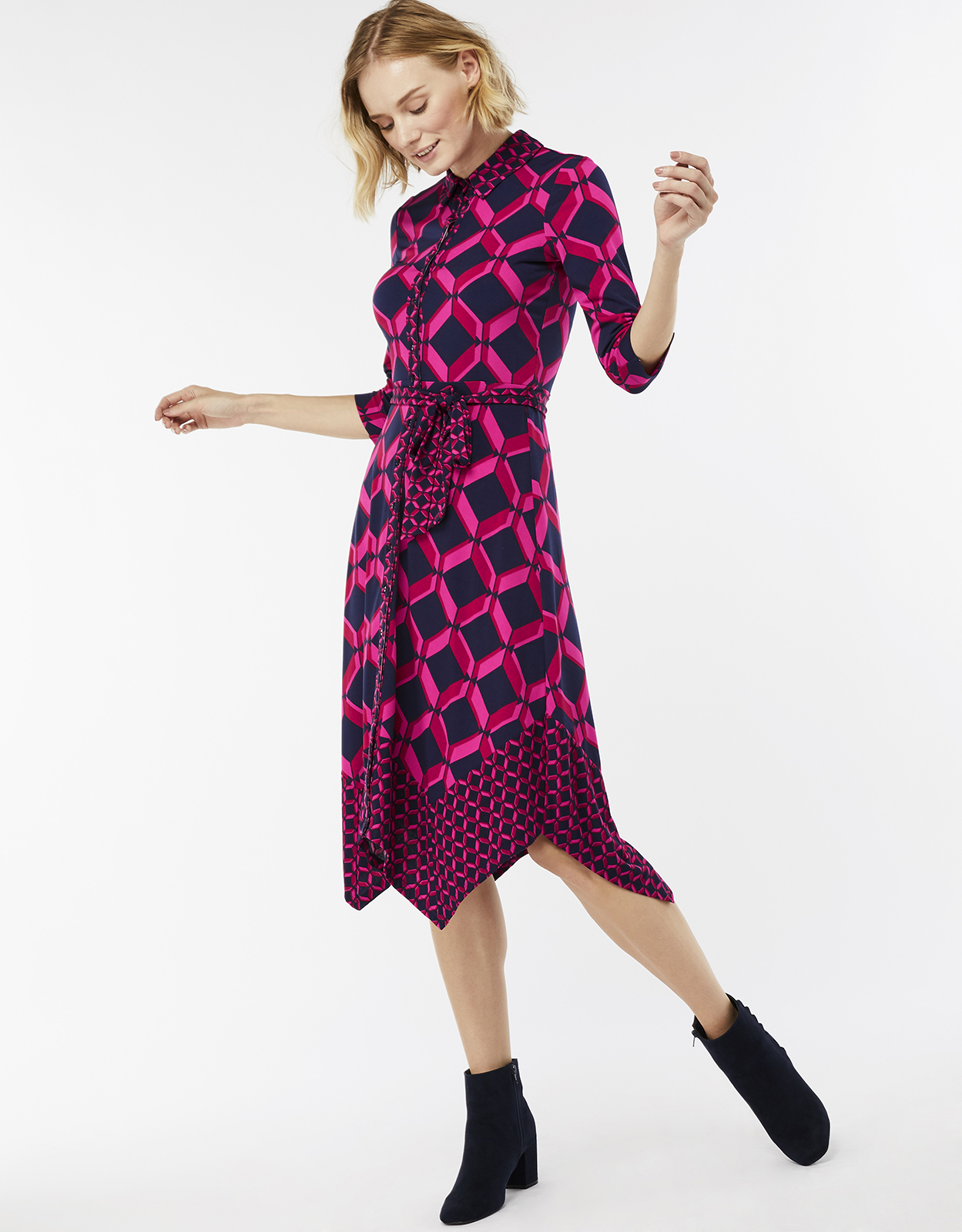 Monsoon Gabby Geo Print Shirt Dress