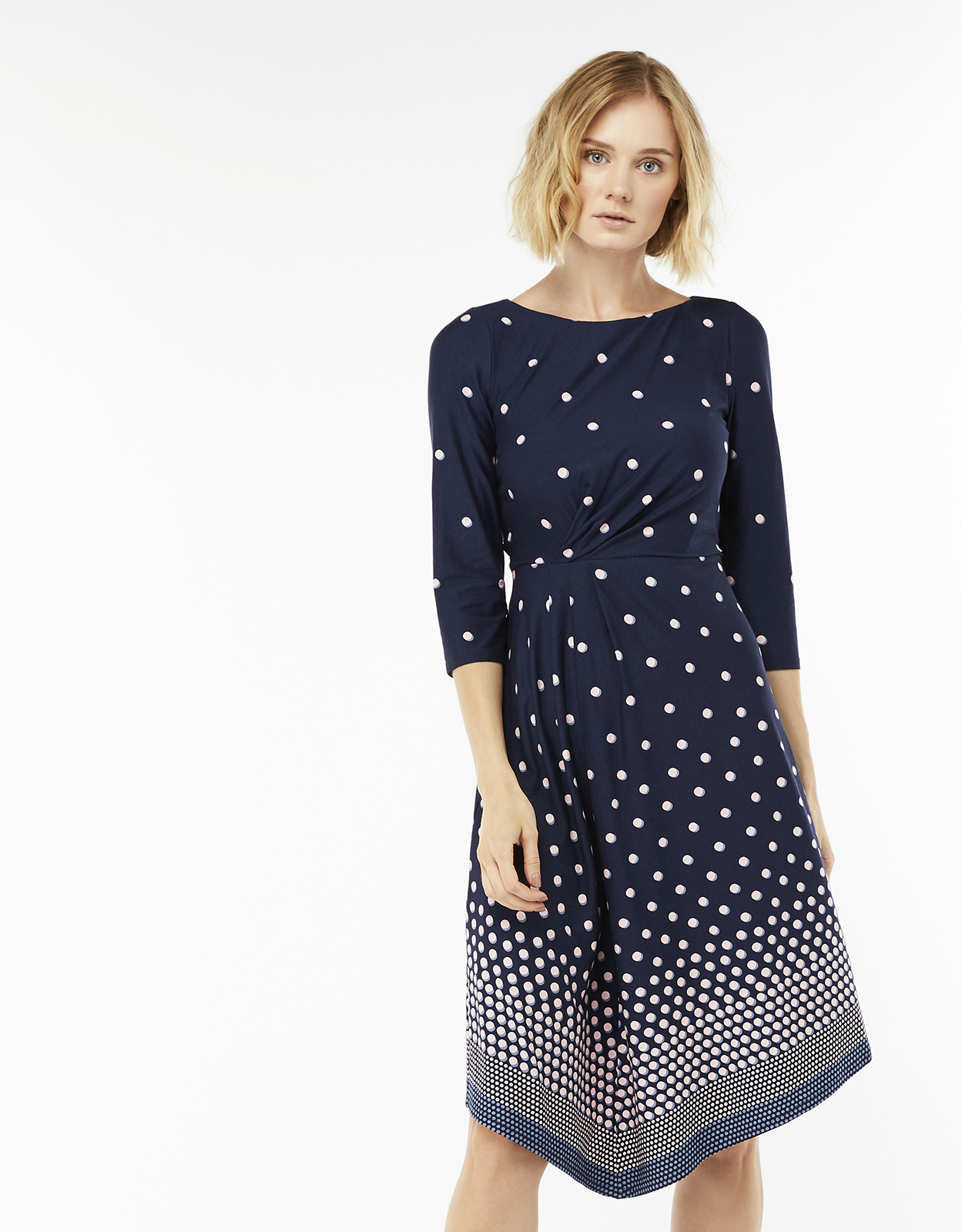 Monsoon Safia Spot Midi Dress
