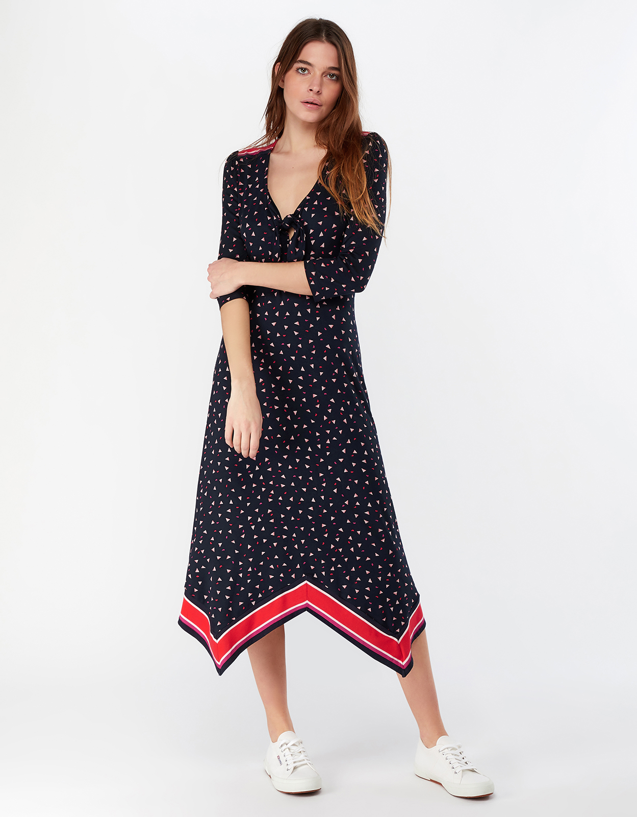 Monsoon Gili Print Hanky Hem Dress