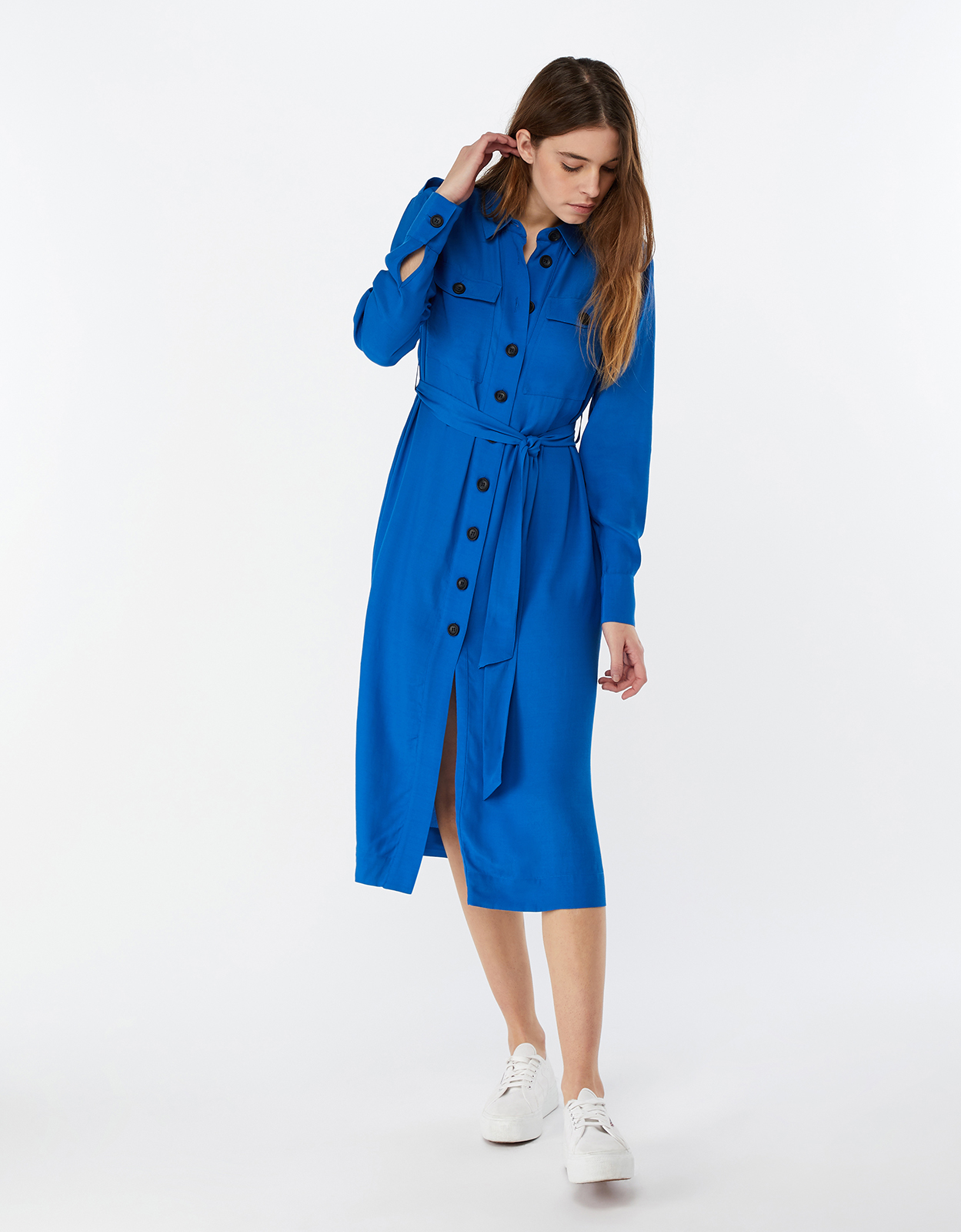 Monsoon Aster Shirt Midi Dress