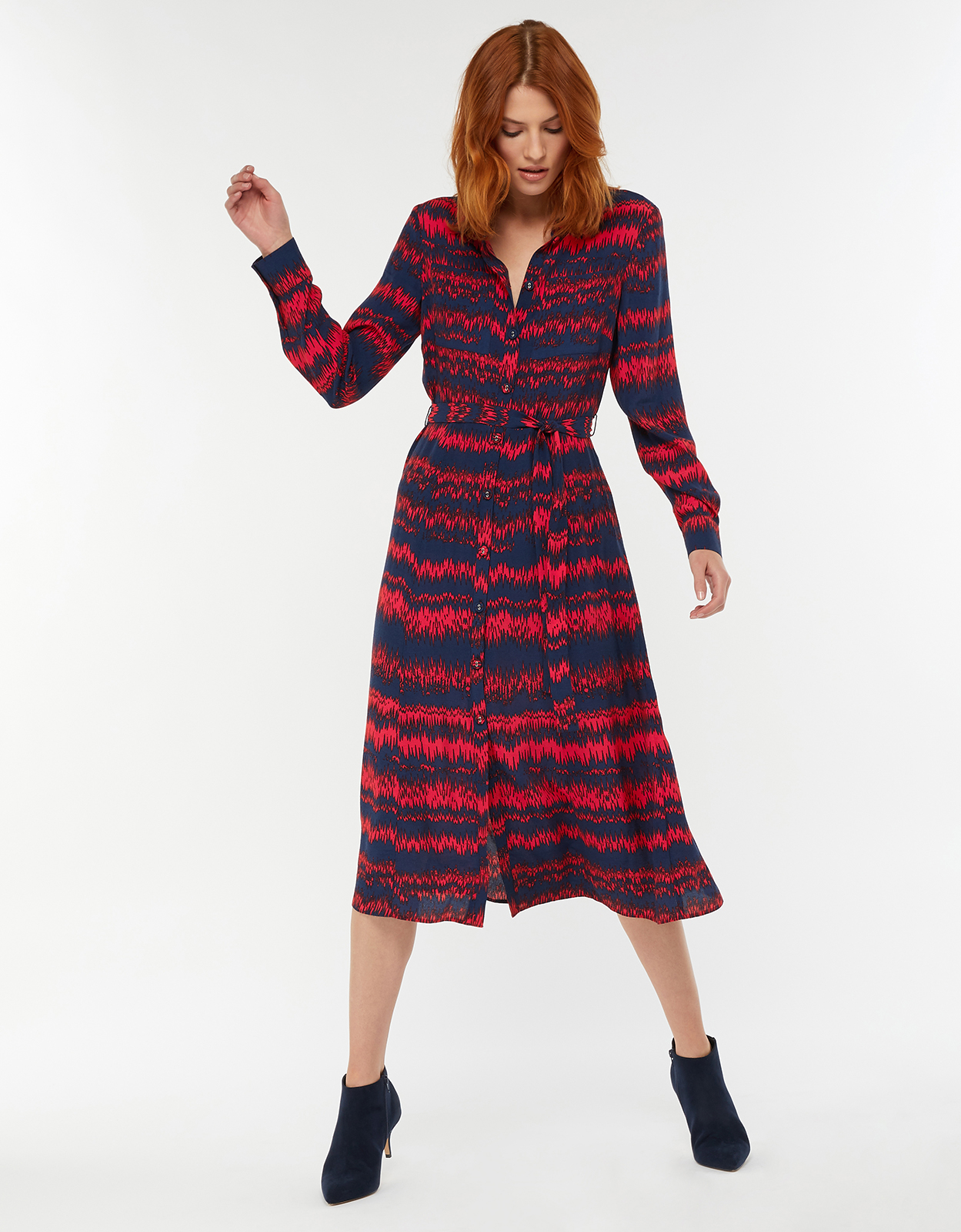Monsoon Lizzie Print Shirt Dress