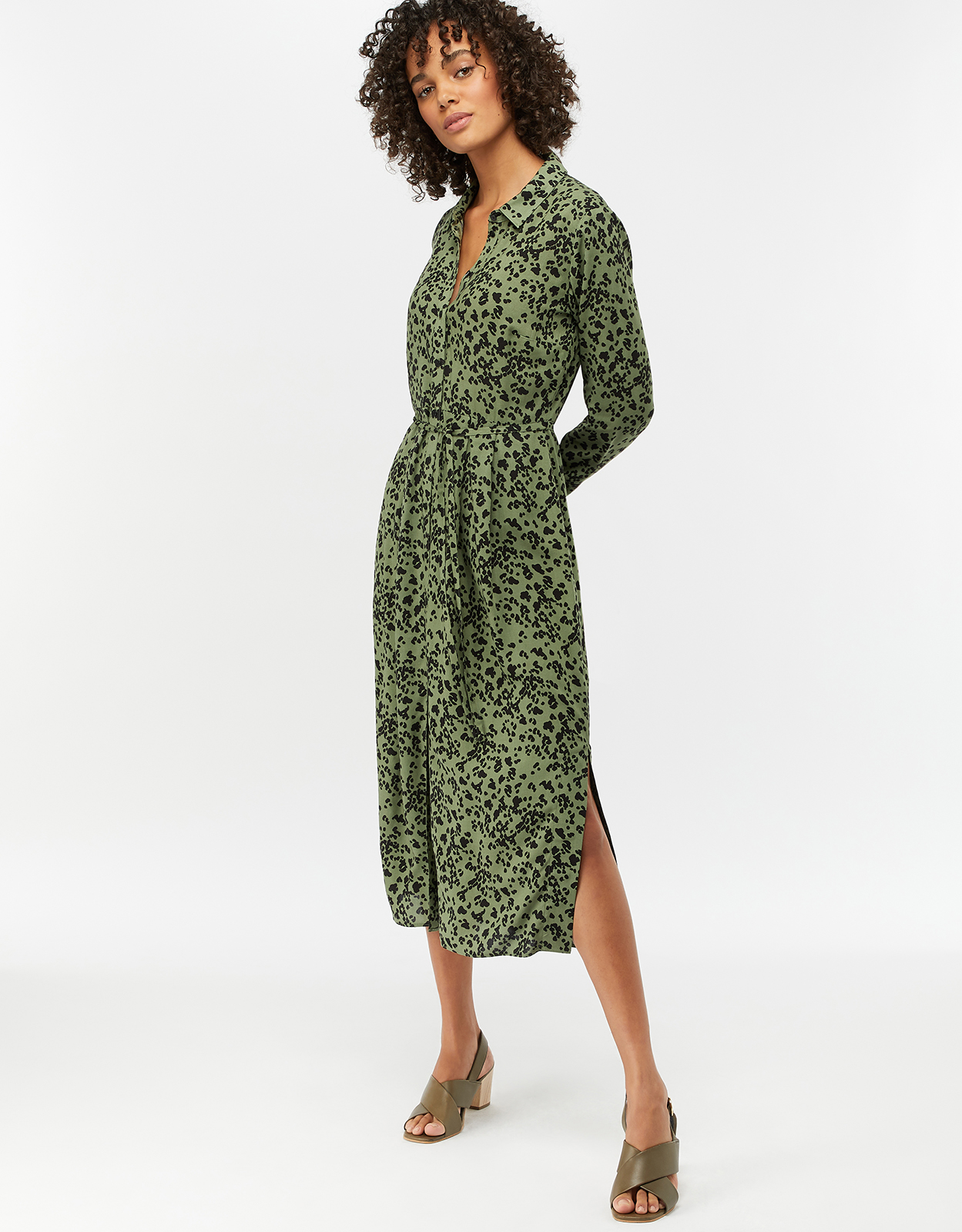 Monsoon Wilma Animal Print Shirt Dress