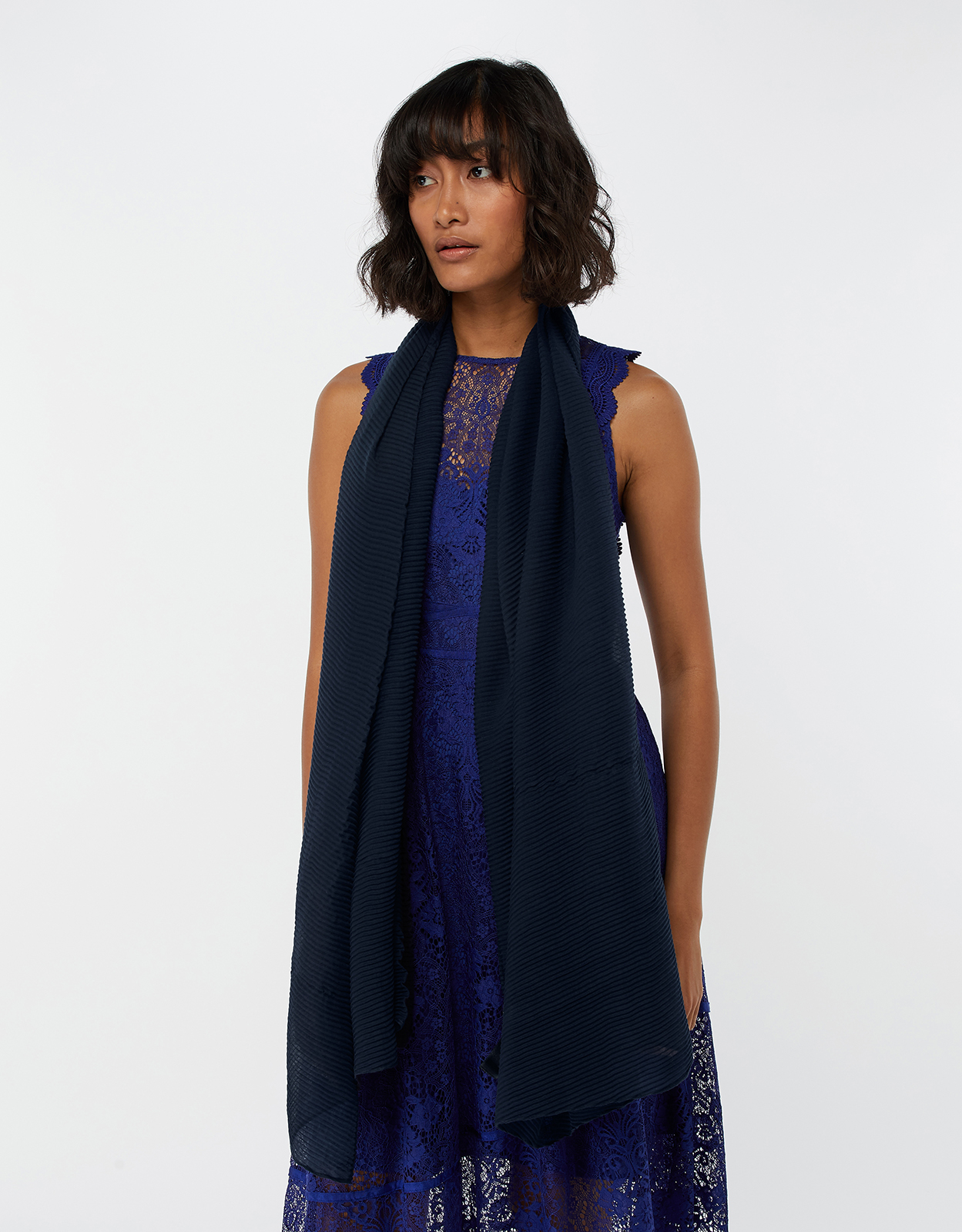 Monsoon Orla Occasion Pleated Scarf