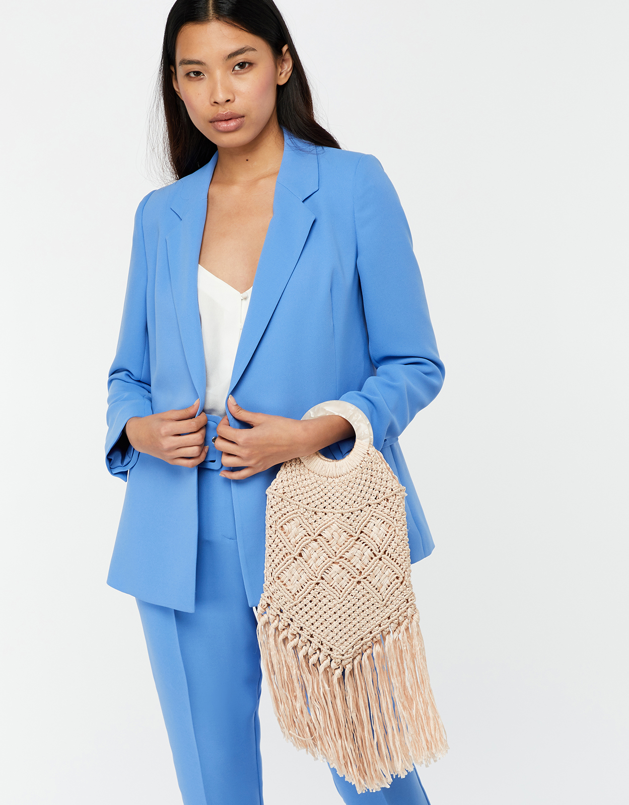 Monsoon Marisol Macramé Tassel Occasion Bag